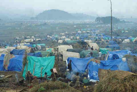 Campo de refugiados ruandeses en Zaire