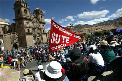 Protesta del SUTEP en Cusco